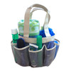 Quick Dry Shower Tote & Mesh Caddy, 7-pocket (Cool Grey)
