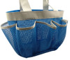Quick Dry Shower Tote & Mesh Caddy, 7-pocket (Cool Blue)