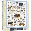 Land Mammals of North America - 1000pc Jigsaw Puzzle by Masterpieces