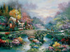 Peaceful Cottage - 300pc Large Format Jigsaw Puzzle By Sunsout