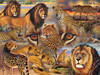 Big Cats of the Plains - 500pc Jigsaw Puzzle By Sunsout
