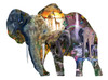 Elephant  Waterfall - 1000pc Shaped Jigsaw Puzzle By Sunsout
