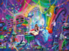 Rose Cat Khan: Magic Study - 1000pc Jigsaw Puzzle by Buffalo Games