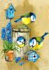 Birdhouse Watercolor - Garden Flag by Serious