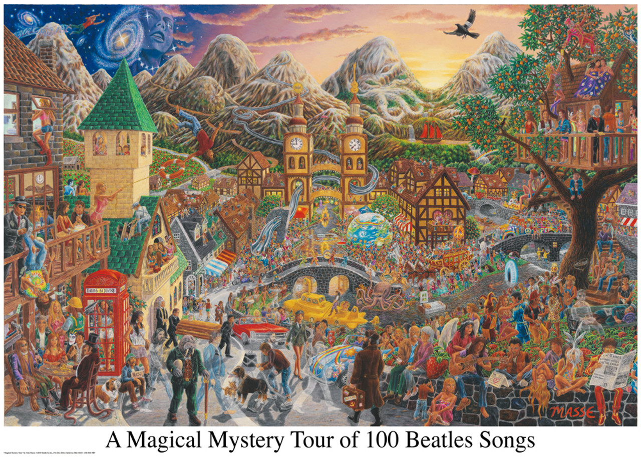 Magical Mystery Tour - 3000pc Jigsaw Puzzle by Aquarius