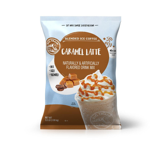 Big Train Blended Ice Coffee - 3.5 lb. Bulk Bag: Caramel Latte