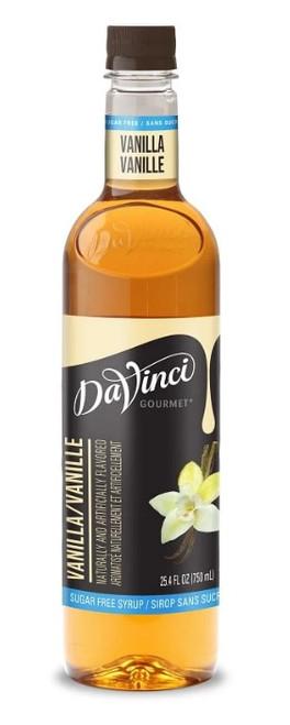 Davinci Sugar Free Flavored Syrups - 750 ml. Plastic Bottle: Vanilla