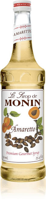 Monin Classic Flavored Syrups - 750 ml. Glass Bottle: Amaretto