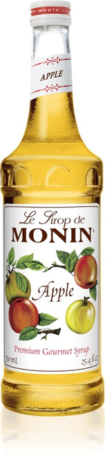 Monin Classic Flavored Syrups - 750 ml. Glass Bottle: Apple
