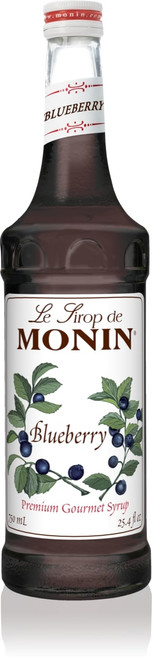 Monin Classic Flavored Syrups - 750 ml. Glass Bottle: Blueberry