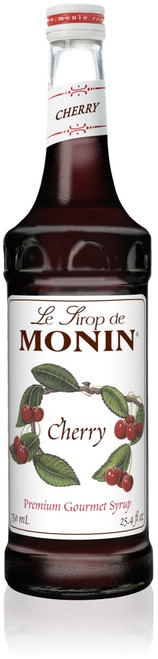 Monin Classic Flavored Syrups - 750 ml. Glass Bottle: Cherry