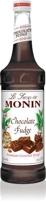 Monin Classic Flavored Syrups - 750 ml. Glass Bottle: Chocolate Fudge