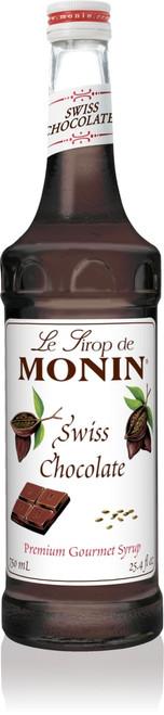 Monin Classic Flavored Syrups - 750 ml. Glass Bottle: Chocolate, Swiss