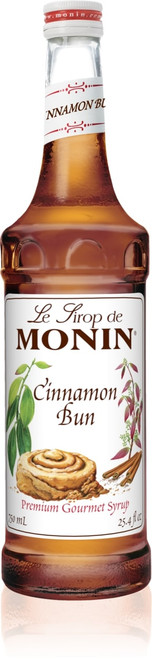 Monin Classic Flavored Syrups - 750 ml. Glass Bottle: Cinnamon Bun