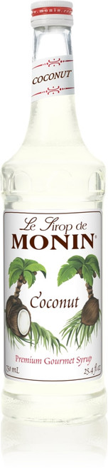 Monin Classic Flavored Syrups - 750 ml. Glass Bottle: Coconut