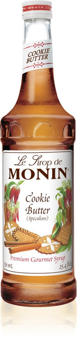 Monin Classic Flavored Syrups - 750 ml. Glass Bottle: Cookie Butter