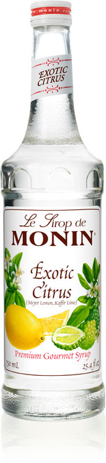 Monin Classic Flavored Syrups - 750 ml. Glass Bottle: Exotic Citrus