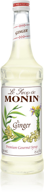 Monin Classic Flavored Syrups - 750 ml. Glass Bottle: Ginger