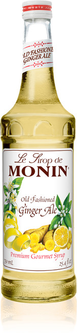 Monin Classic Flavored Syrups - 750 ml. Glass Bottle: Ginger Ale