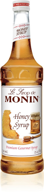 Monin Classic Flavored Syrups - 750 ml. Glass Bottle: Honey