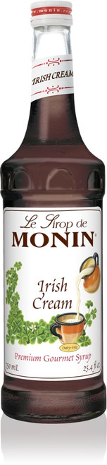 Monin Classic Flavored Syrups - 750 ml. Glass Bottle: Irish Cream