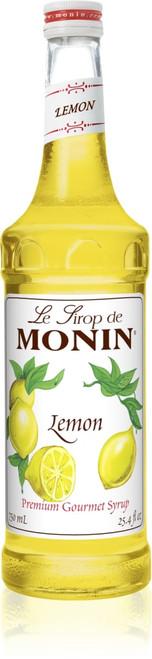 Monin Classic Flavored Syrups - 750 ml. Glass Bottle: Lemon