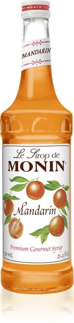 Monin Classic Flavored Syrups - 750 ml. Glass Bottle: Mandarin