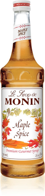 Monin Classic Flavored Syrups - 750 ml. Glass Bottle: Maple Spice