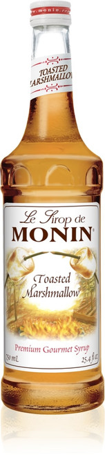 Monin Classic Flavored Syrups - 750 ml. Glass Bottle: Marshmallow, Toasted