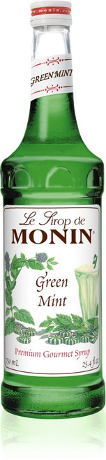 Monin Classic Flavored Syrups - 750 ml. Glass Bottle: Mint, Green