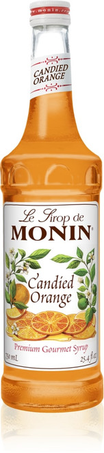 Monin Classic Flavored Syrups - 750 ml. Glass Bottle: Orange (Candied)