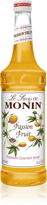 Monin Classic Flavored Syrups - 750 ml. Glass Bottle: Passion Fruit
