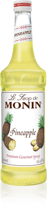 Monin Classic Flavored Syrups - 750 ml. Glass Bottle: Pineapple