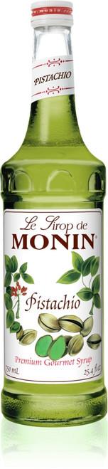 Monin Classic Flavored Syrups - 750 ml. Glass Bottle: Pistachio