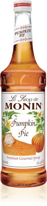 Monin Classic Flavored Syrups - 750 ml. Glass Bottle: Pumpkin Pie