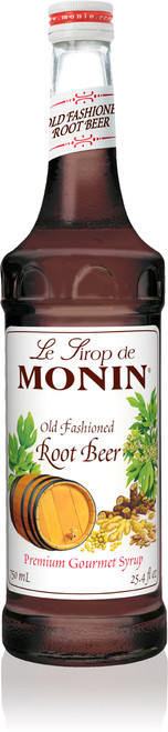 Monin Classic Flavored Syrups - 750 ml. Glass Bottle: Root Beer