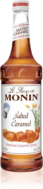 Monin Classic Flavored Syrups - 750 ml. Glass Bottle: Salted Caramel