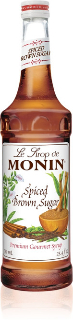 Monin Classic Flavored Syrups - 750 ml. Glass Bottle: Spiced Brown Sugar