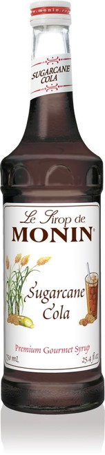 Monin Classic Flavored Syrups - 750 ml. Glass Bottle: Sugarcane Cola