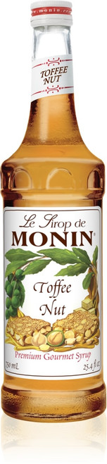 Monin Classic Flavored Syrups - 750 ml. Glass Bottle: Toffee Nut