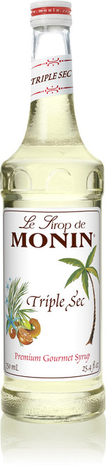 Monin Classic Flavored Syrups - 750 ml. Glass Bottle: Triple Sec