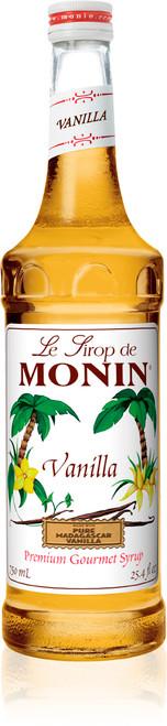 Monin Classic Flavored Syrups - 750 ml. Glass Bottle: Vanilla