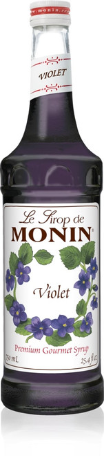 Monin Classic Flavored Syrups - 750 ml. Glass Bottle: Violet