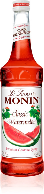 Monin Classic Flavored Syrups - 750 ml. Glass Bottle: Watermelon