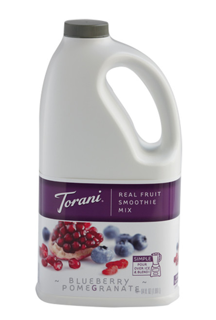Torani Real Fruit Smoothies - 64oz Jug: Blueberry Pomegranate