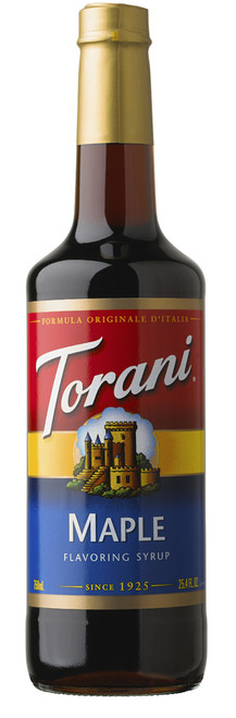 Torani Classic Flavored Syrups - 750 ml Glass Bottle: Maple Flavor