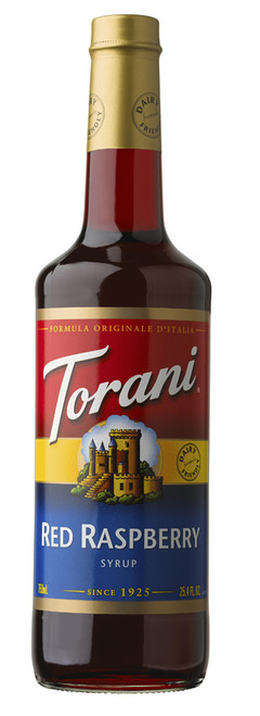 Torani Classic Flavored Syrups - 750 ml Glass Bottle: Red Raspberry