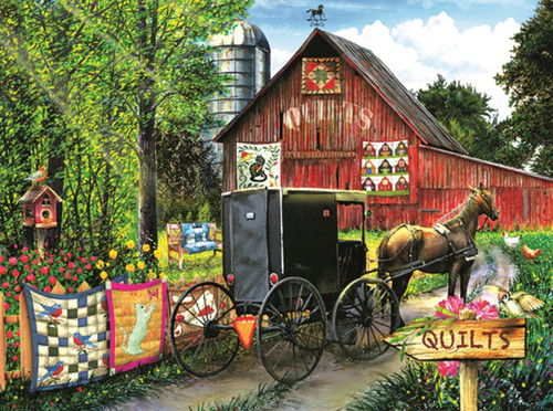 Amish Quilt Sale - 1000pc Jigsaw Puzzle By Sunsout