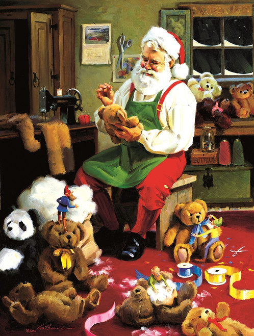 Bearly Christmas - 500pc Jigsaw Puzzle By Sunsout