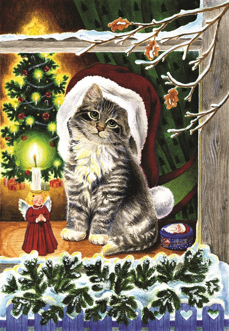 A Christmas Kitten - 300pc Jigsaw Puzzle By Sunsout